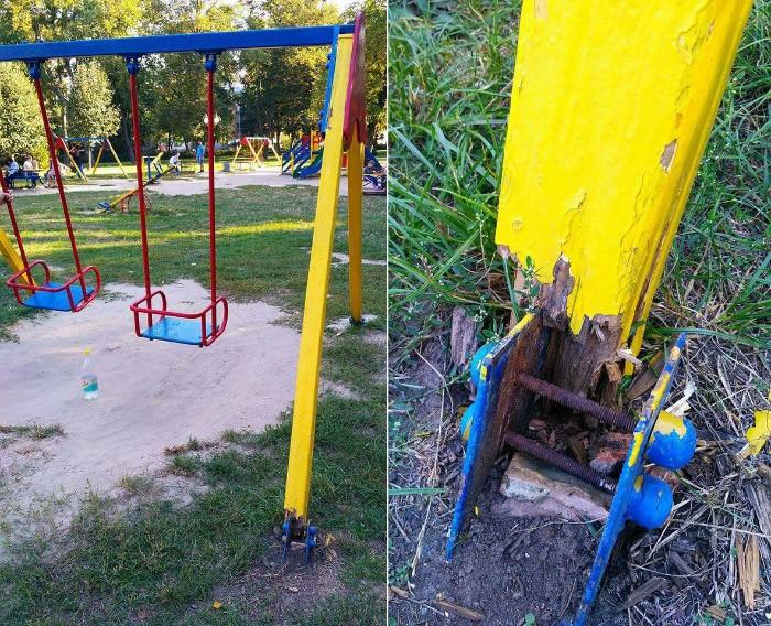 Дитячий майданчик у Сонячному парку | Фото Оксани Ханас