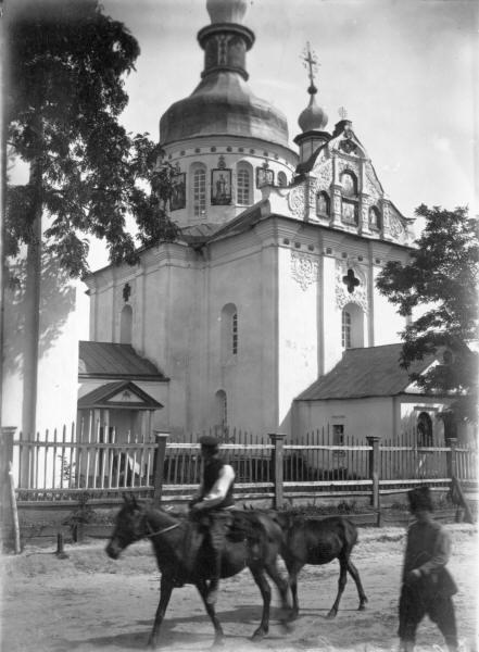 Благовіщенська церква (1722 р.) у с. Баришівка Переяславського повіту. Зовнішній вигляд з північного заходу.Світлина С. Таранушенка, 1920-х рр.