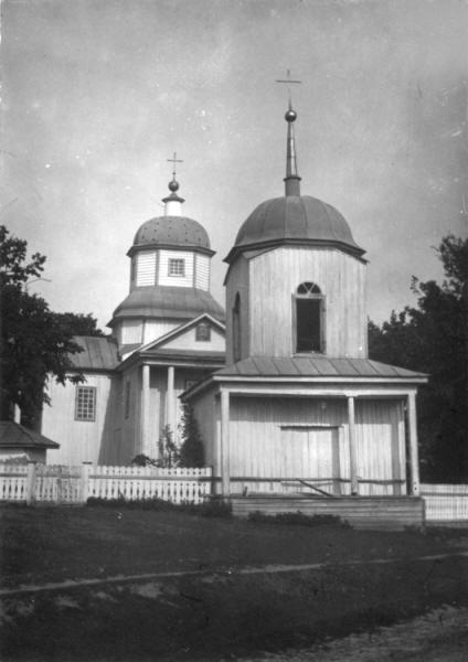 Георгіївська церква (1795 р.) у с. Білошапки Пирятинського повіту. Світлина С. Таранушенка, 1920-х рр.