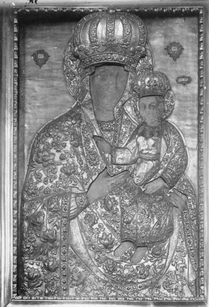 М. Бориспіль. Шата карбована на іконі Божої Матері. Світлина П. Жолтовського.